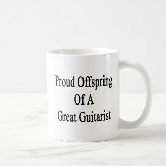 Caneca De Café Prole orgulhosa de um grande guitarrista