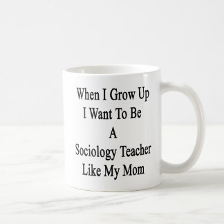 Caneca De Café Quando eu me cresço acima queira ser um professor