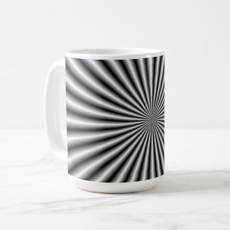 Caneca De Café Raios em preto e branco