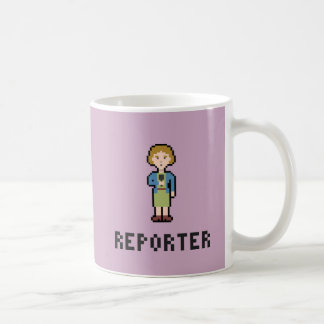 Caneca De Café Repórter da fêmea do pixel