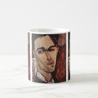 Caneca De Café Retrato de Celso Lagar - Amedeo Modigliani