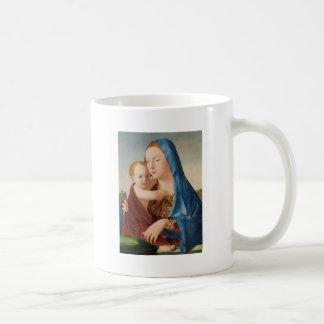 Caneca De Café Retrato de Mary que guardara o bebê Jesus