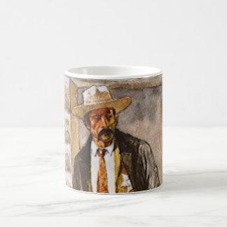 Caneca De Café Retrato do xerife pelo Seltzer, vaqueiro ocidental