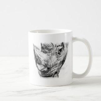 Caneca De Café Rinoceronte no carvão vegetal