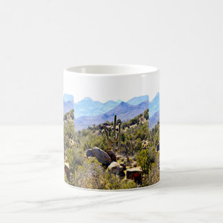 Caneca De Café Saguaro no copo de café clássico das montanhas