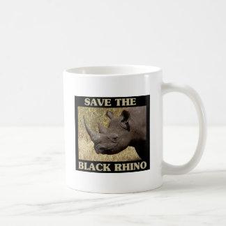Caneca De Café Salvar o rinoceronte preto