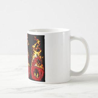 Caneca De Café Sangue 666 & fogo