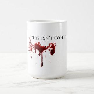 """Caneca De Café Sangue não do café"""" do humor do vampiro """""""