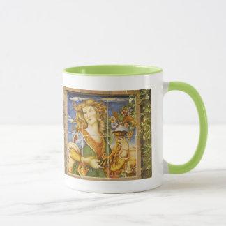 Caneca de café--Senhora do azulejo de Deruta