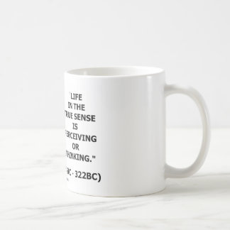 Caneca De Café Sentido verdadeiro da vida de Aristotle que