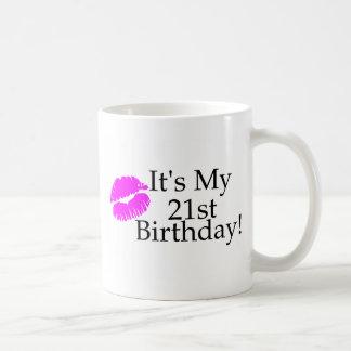 Caneca De Café Seu meu aniversário de 21 anos (beijo)