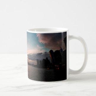 Caneca De Café Skyline da Nova Iorque no por do sol
