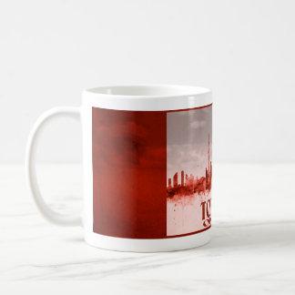 Caneca De Café Skyline de Toronto com grunge vermelho