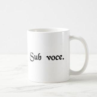 Caneca De Café Sob a voz