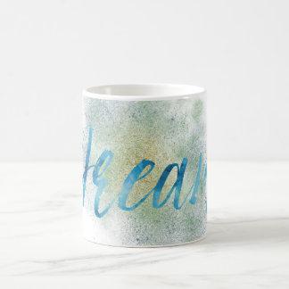 Caneca De Café Sonho do azul do ouro do Aqua