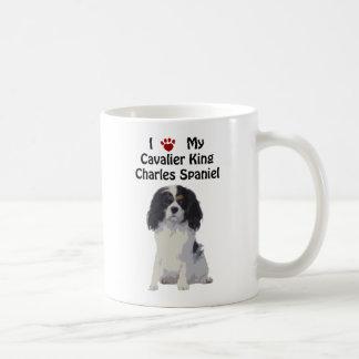 Caneca De Café Spaniel de rei Charles descuidado