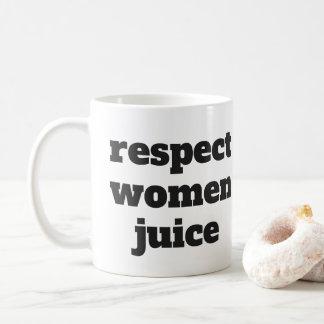 Caneca De Café Suco das mulheres do respeito
