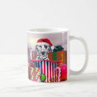 Caneca De Café Surpresa Dalmatian do Natal