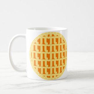 Caneca De Café Tarte de abóbora da estrutura - dia do Pi