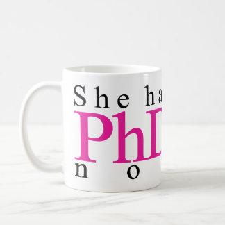 Caneca De Café Tem o PhD agora
