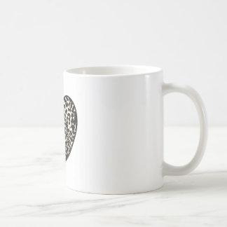 Caneca De Café Teste padrão 2 do impressão do coração da chita
