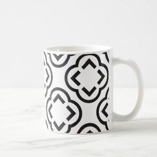 Caneca De Café Teste padrão branco e preto