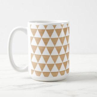 Caneca De Café Teste padrão chique geométrico de madeira tribal