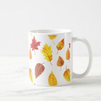 Caneca De Café Teste padrão do outono