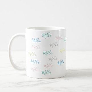 Caneca De Café teste padrão muito simples & pálido de nomes