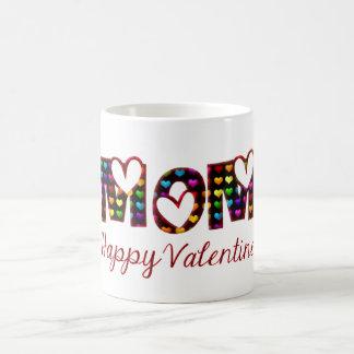 Caneca De Café Tipografia bonito dos corações dos namorados