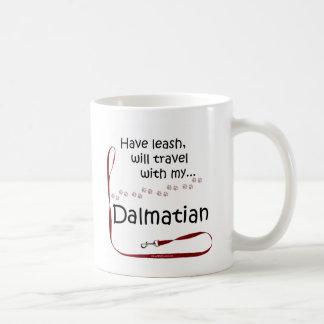 Caneca De Café Trela Dalmatian do viagem