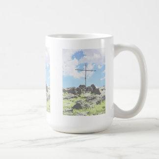 Caneca De Café Três cruzes da cume