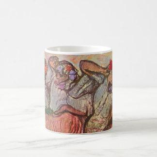 Caneca De Café Três dançarinos do russo por Edgar Degas
