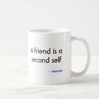 Caneca De Café Um amigo é um segundo auto, ---Aristotle