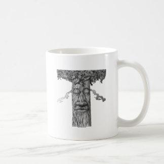 Caneca De Café Um cobrir poderoso B&W da árvore