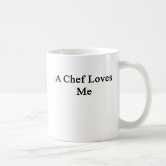 Caneca De Café Um cozinheiro chefe ama-me