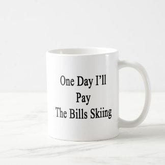 Caneca De Café Um dia eu pagarei o esqui das contas