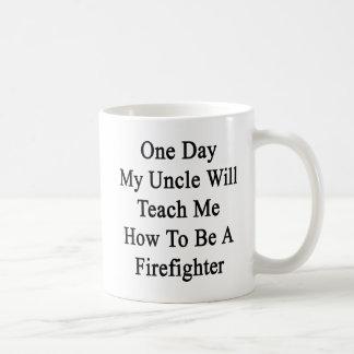 Caneca De Café Um dia meu tio Ensino Me Como ser um Firefig