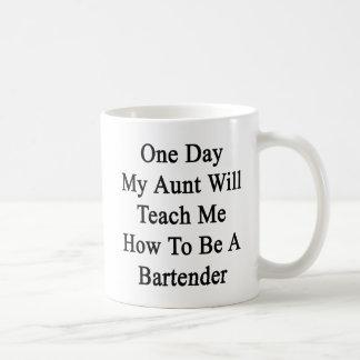Caneca De Café Um dia minha tia Ensino Me Como ser um Bartende