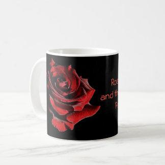 Caneca De Café Um rosa para um amor perfeito