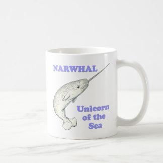 Caneca De Café Unicórnio de Narwhal do mar