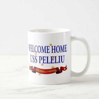 Caneca De Café USS Peleliu Home bem-vindo