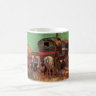 Caneca De Café Van Gogh; Acampamento dos ciganos com caravana
