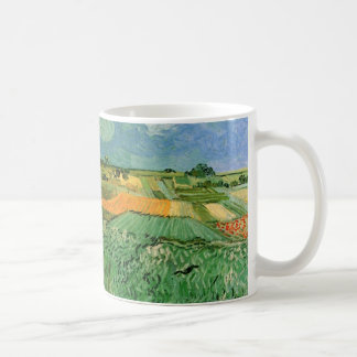 Caneca De Café Van Gogh Auvers próximo liso, belas artes do