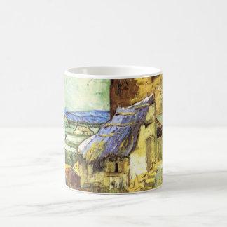 Caneca De Café Van Gogh o moinho velho, belas artes da paisagem