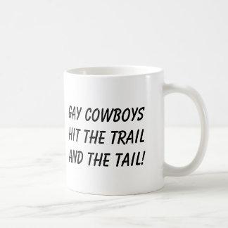 Caneca De Café vaqueiro, cowboyshit alegre o trailand a cauda!