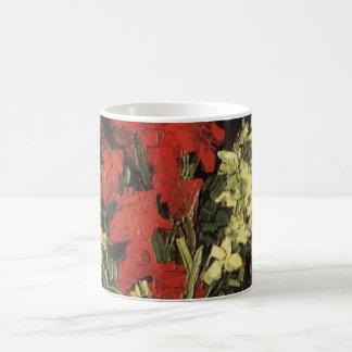 Caneca De Café Vaso das belas artes de Van Gogh com tipos de flor