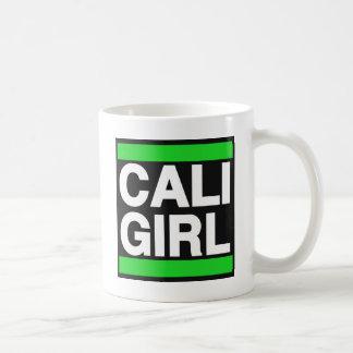 Caneca De Café Verde da menina de Cali