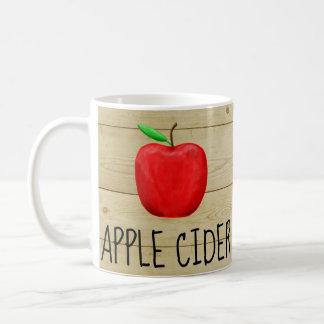 Caneca De Café Vermelho Apple da sidra de maçã