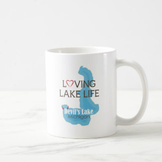 Caneca De Café Vida Loving do lago, o lago devil, Michigan
